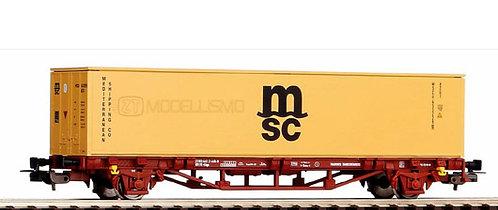 """Piko 58773 - Carro pianale con container """"MSC"""", FS - H0"""