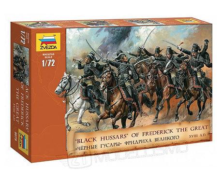 """Zvezda 8079 - """"Black Hussars"""" of Frederick The Great - 1:72"""