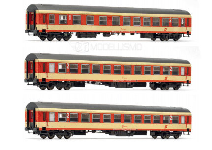 Jaegerndorfer 90302 - Set 3 carrozze passeggeri, ÖBB - H0