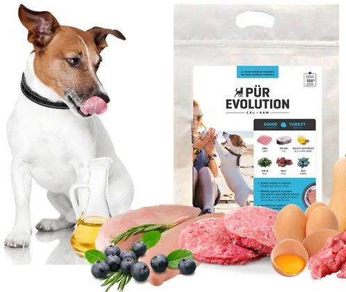 Nourriture cru pour chien Pür Evolution dinde et poisson
