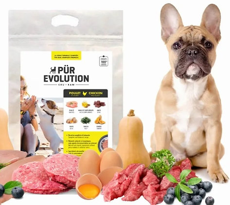 Nourriture cru pour chien  Pür Evolution poulet et courge