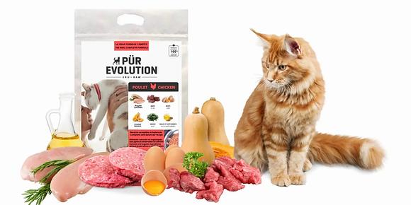 """Nourriture cru pour chat """"Pür Evolution poulet"""""""