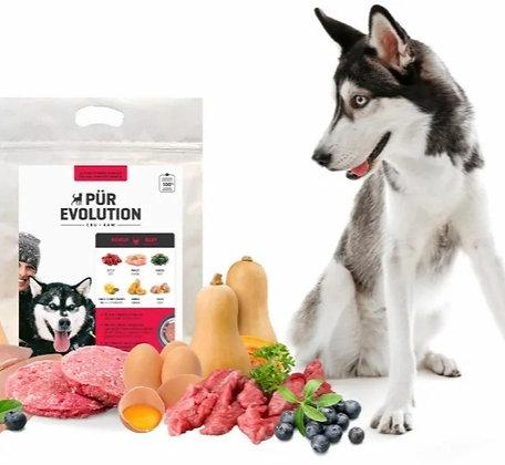 Nourriture cru pour chien Pür Evolution boeuf et poulet
