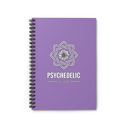 Psychedelic Club Notebook- Purple
