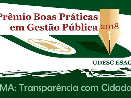 Prêmio Boas Práticas em Gestão Pública Udesc/Esag 2018 tem como vencedor geral cliente Thema