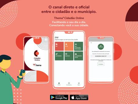 Novo app Thema® Cidadão Online é o canal direto entre o cidadão e o município de Caxias de Sul