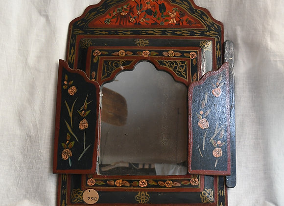 Miroir indien peint à la main