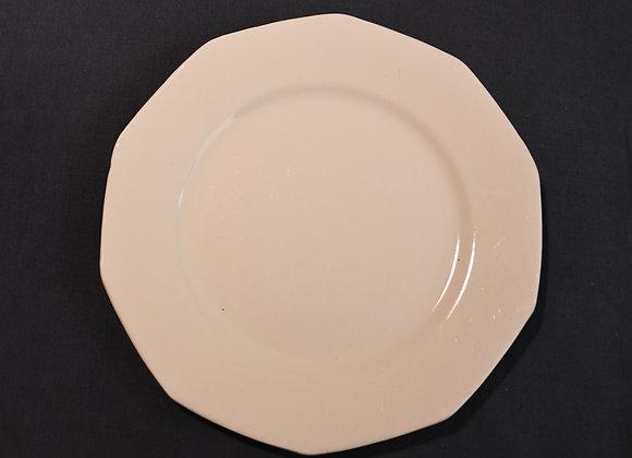 6 assiettes plates Octogonales