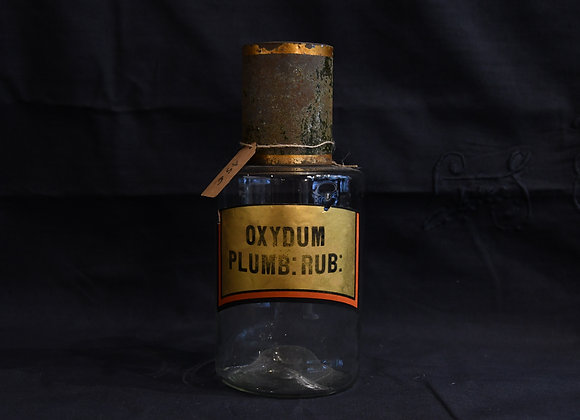 Pot à pharmacie ancien Oxydum Plumb Rub