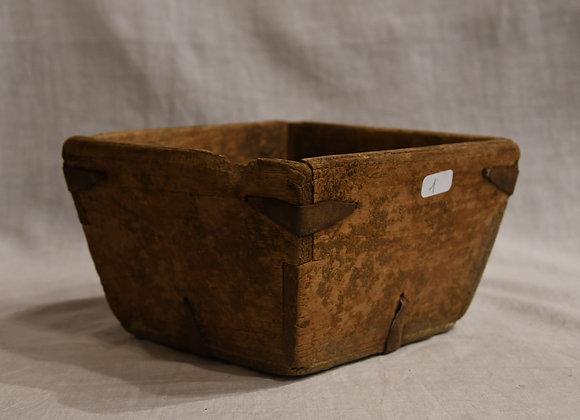 Boite à riz petit modèle en bois ancien
