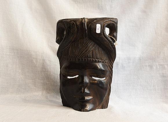 Masque africain en ébène