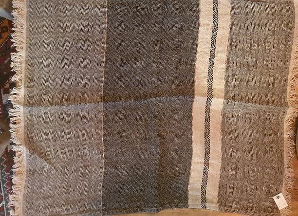 Grande serviette invité en lin brut
