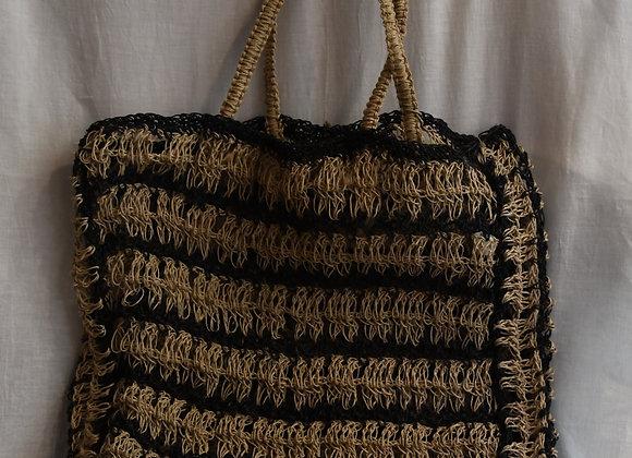 Cabas crocheté bicolore