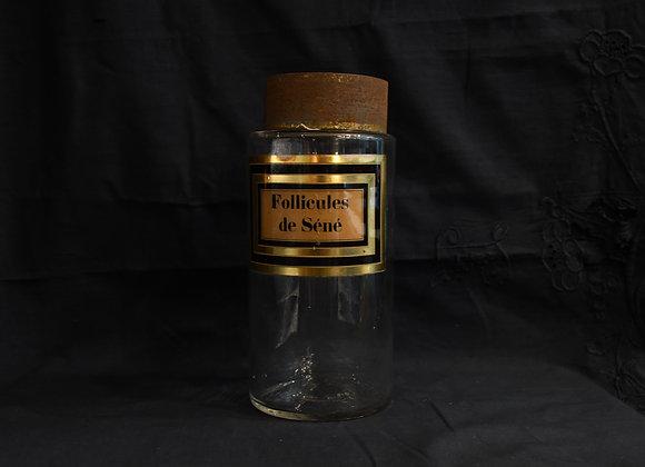 Pot à pharmacie  ancien Follicules de séné