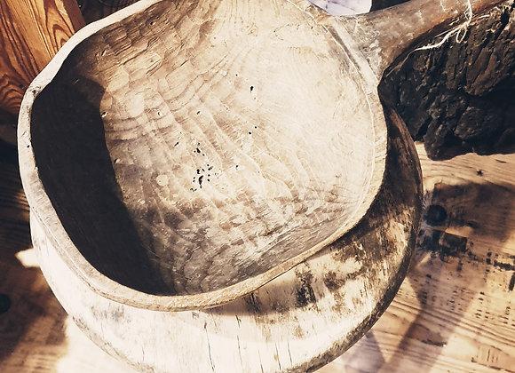 Grande cuillère bois ancien