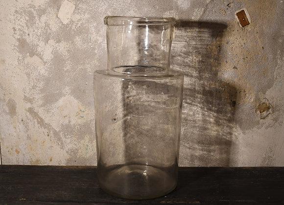 Grand pot en verre soufflé ancien