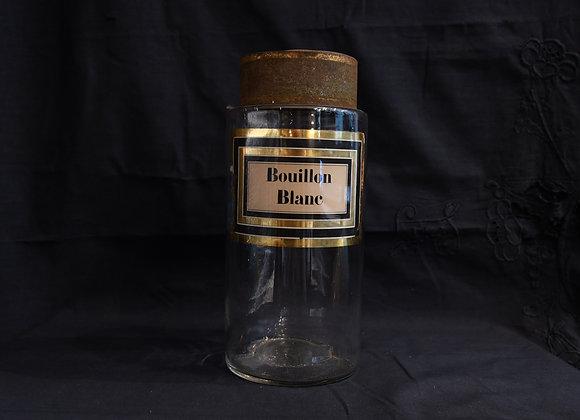 Pot à pharmacie ancien Bouillon Blanc