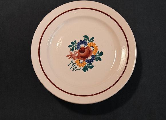 10 assiettes à dessert  rose modèle Suzanne