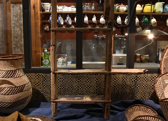 Etagère lampe artisanale en bois flotté