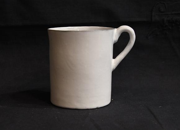 Mug à anse blanc en céramique  émaillée Carron