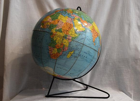 Globe terrestre année 60