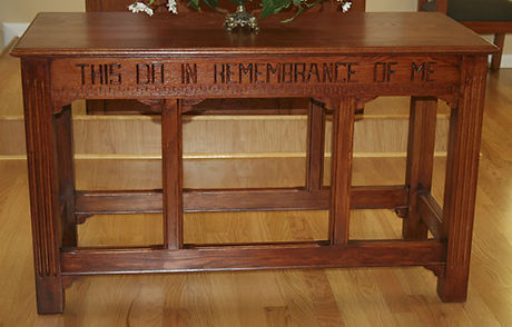 Wooden Communion Table