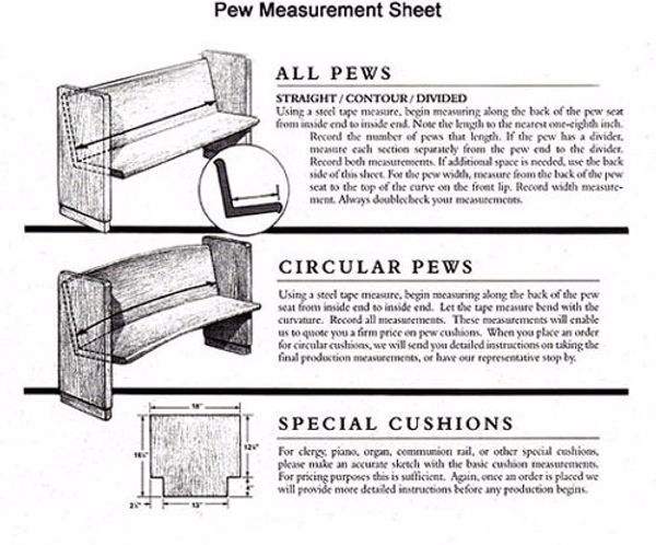 Pew Measurement Guide by Type