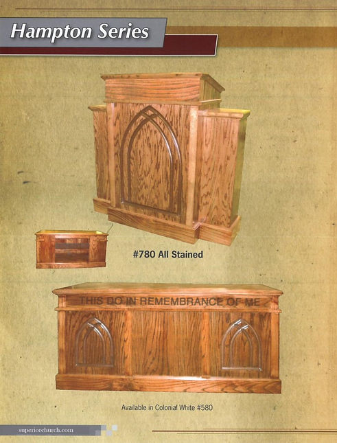 Hampton Series Pulpit and Communion Table