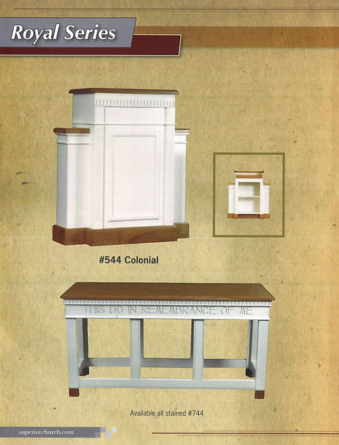 Royal Series Pulpit and Communion Table