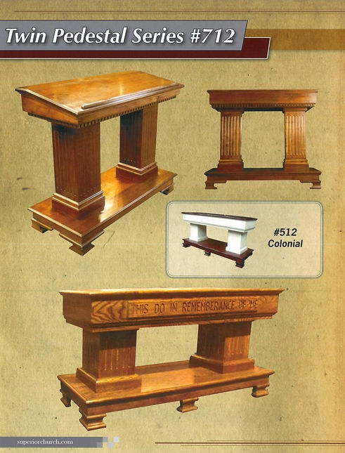Twin Series Pulpit and Communion Table
