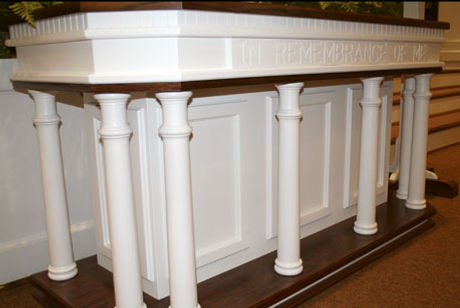 Colonial White Communion Table