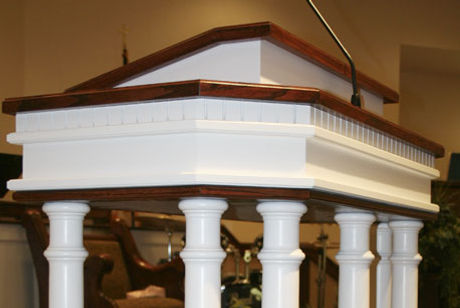 Colonial White Pulpit