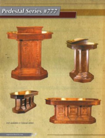 Pedestal Series Pulpit and Communion Table