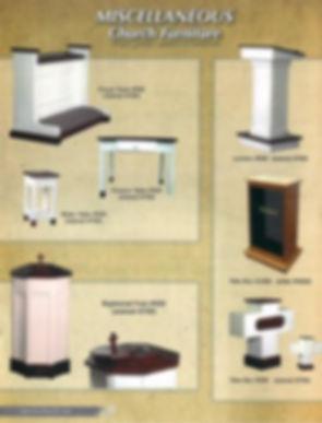 Miscellaneous Church Furniture