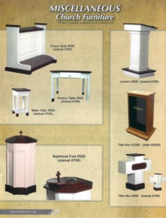 Miscellaneous Church Furniture