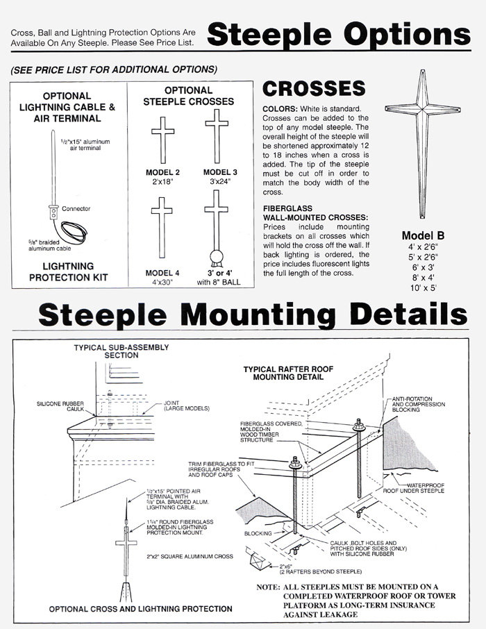 Church Steeple Options