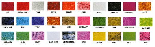 Krinklglas Solid Color Samples