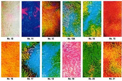 Krinklglas Multicolor Samples