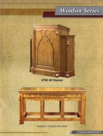 Windsor Series Pulpit and Communion Table