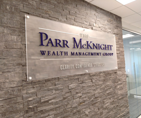 Parr McKnight Reception Sign