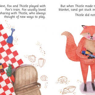 Fox and the Very Big Tangle - Illustrations by Lauren Reese