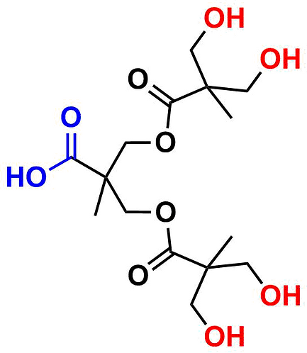 bis-MPA Hydroxyl Dendron, Carboxyl Core, Generation 2