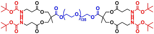 bis-MPA Dendronised PEG 6k, NHBOC Functional, Generation 1