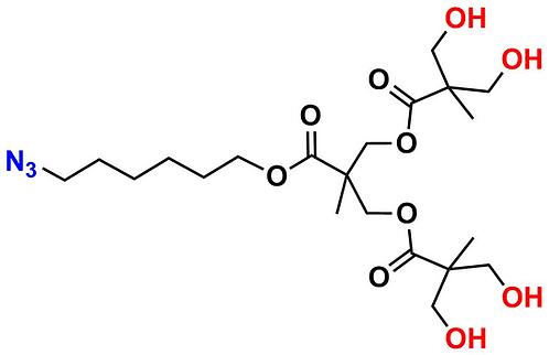 bis-MPA Hydroxyl Dendron, Azide Core, Generation 2