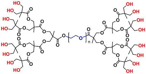 bis-MPA Dendronised PEG 10k, Hydroxyl Functional, Generation 3