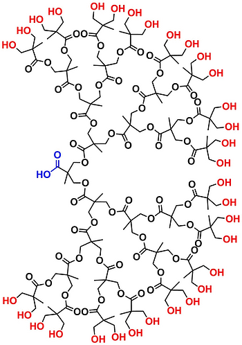bis-MPA Hydroxyl Dendron, Carboxyl Core, Generation 5