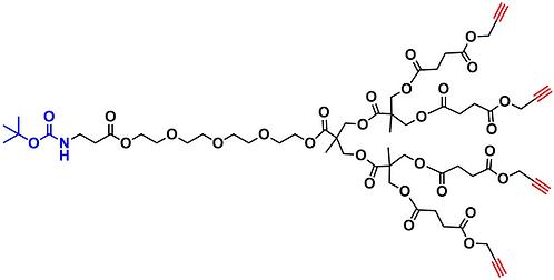 bis-MPA Acetylene Dendron, NH-BOC Core, Generation 2