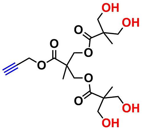 bis-MPA Hydroxyl Dendron, Acetylene Core, Generation 2