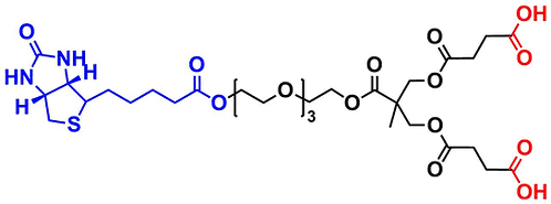 bis-MPA Carboxyl Dendron, Biotin Core, Generation 1
