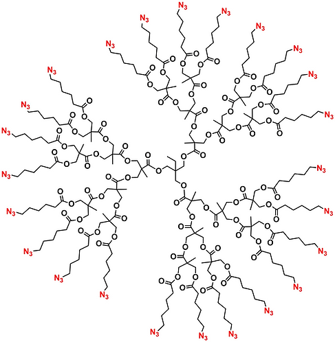 Bis-MPA Azide Dendrimer, Generation 3, TMP Core
